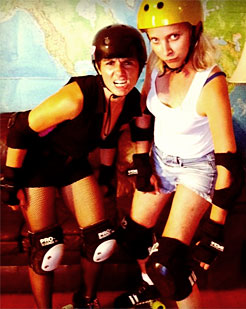 Hilah Johnson and Rollergirl