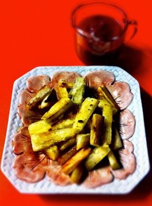 Yucca Fries and Raisin Ketchup!