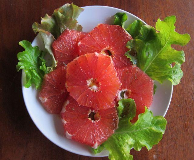Grapefruit Salad with Rosemary-Honey Mojo