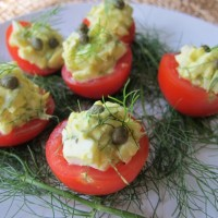 Egg Salad in Tomato Cups
