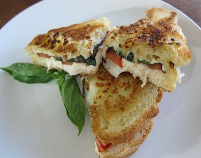 margherita grilled cheese sandwiches