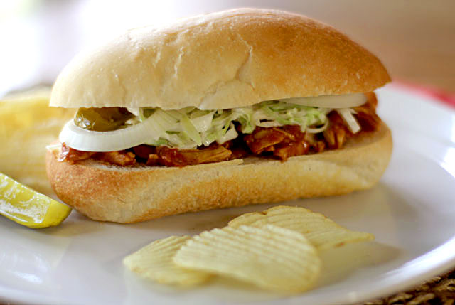 Barbecue Chicken Sandwiches Recipe — Dishmaps