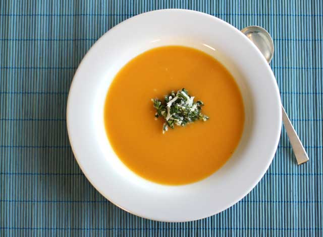 Butternut Squash Soup Recipe with Coconut Relish