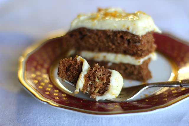 Easy Carrot Cake with Maple and Orange Cream Cheese