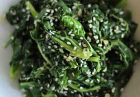 Kale with Garlic and Sesame