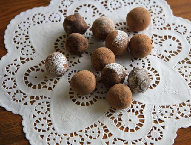 chocolate truffles mess