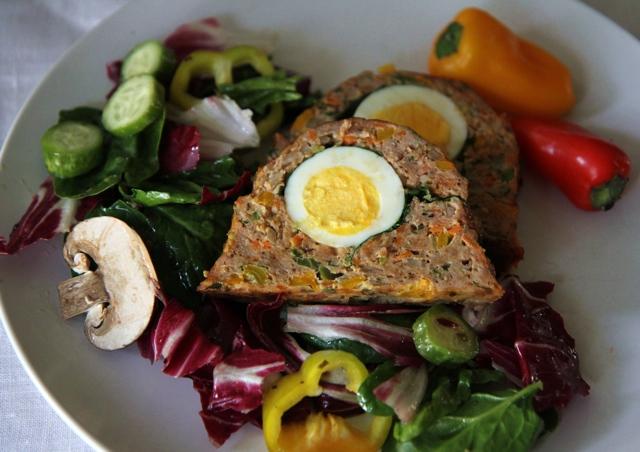 breakfast meatloaf slice