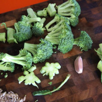 Roasted Broccoli with Sunflower Butter