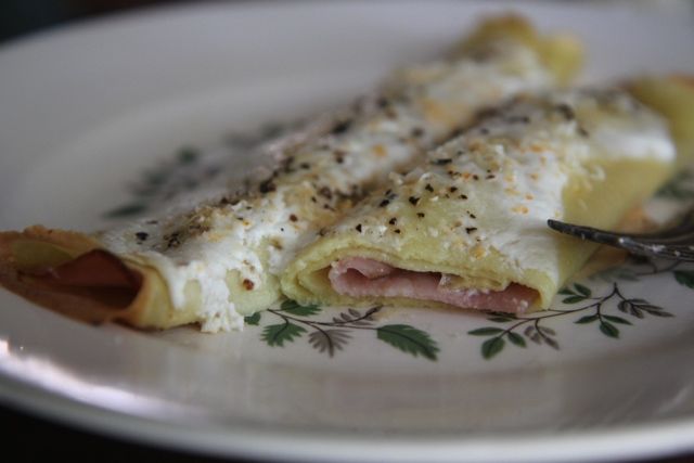 ham and cheese crepe