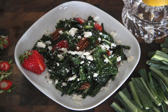 Here's what kale salad looks like on a plate
