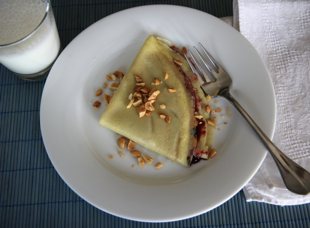 Peanut Butter and Jelly Crepe