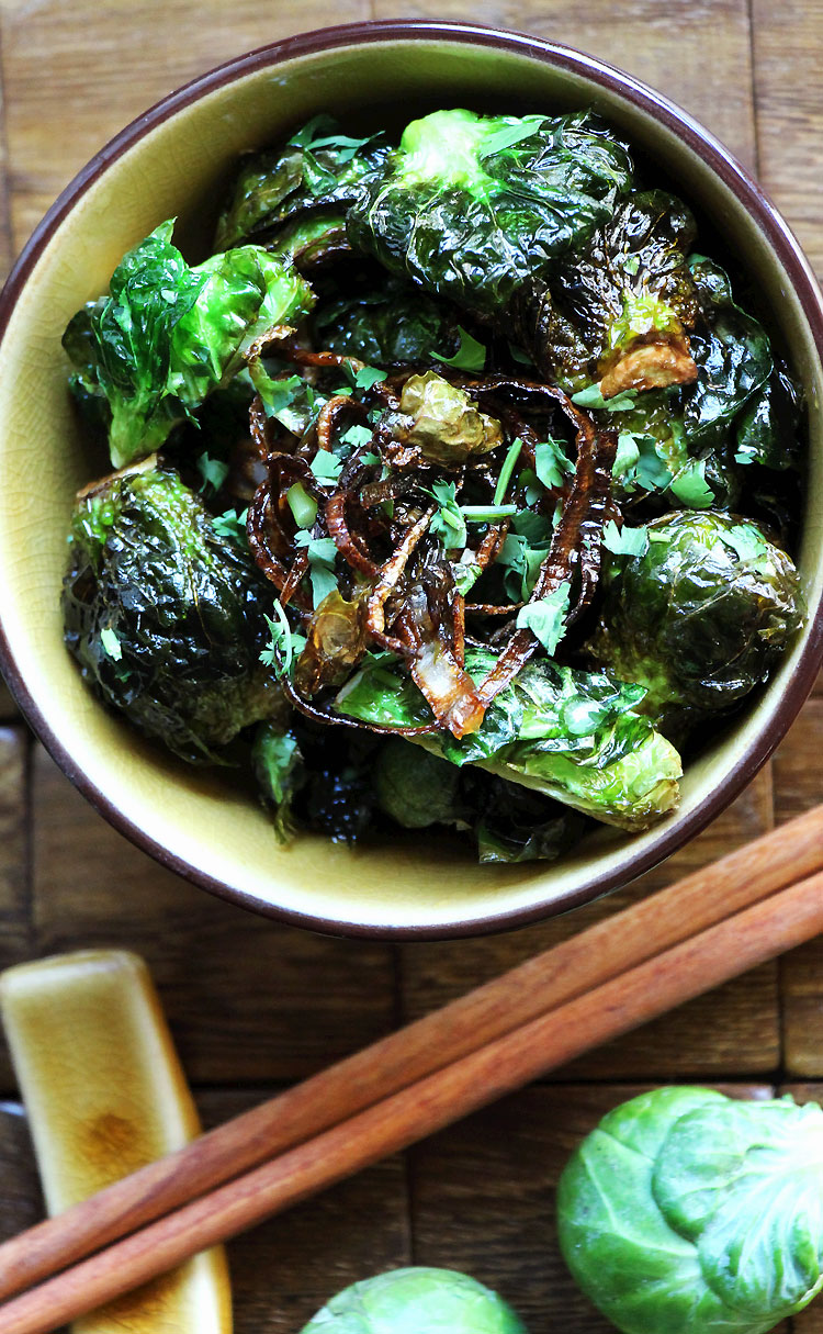 Fried Brussels Sprouts inspired by Uchiko