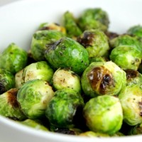 Wasabi Roasted Brussels Sprouts