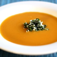 Butternut Squash Soup with Coconut Relish