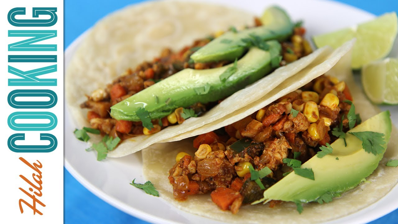 Vegetarian Tacos - Hilah Cooking