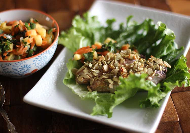 fish lettuce wraps recipe