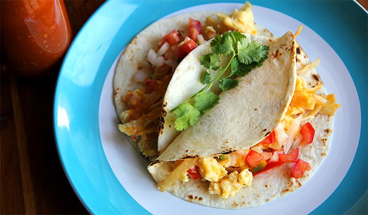Migas Breakfast Taco