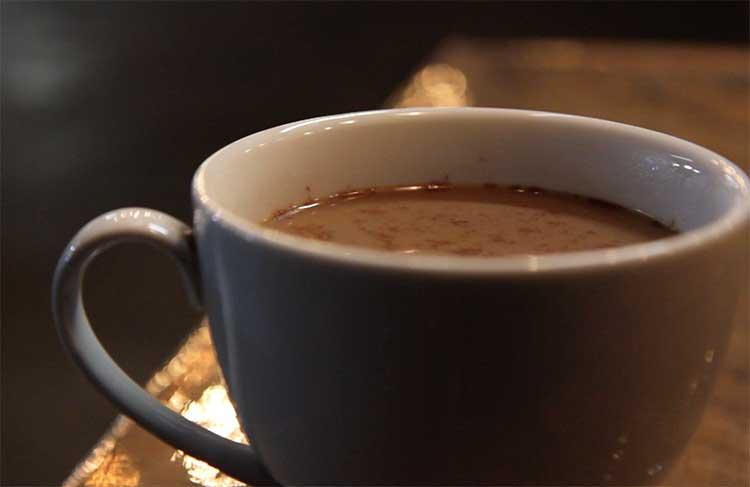 orange spice coffee cocktail