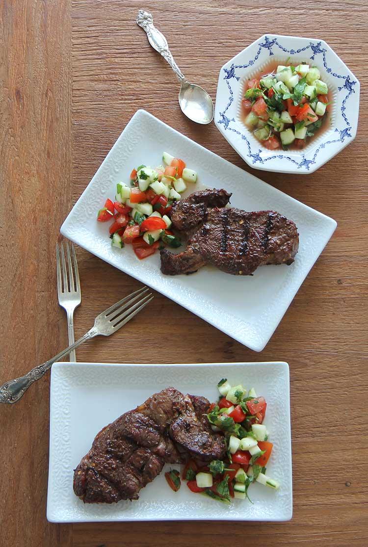 grilled lamb sirloin