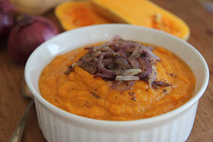 Butternut Squash Puree with Caramelized Onions
