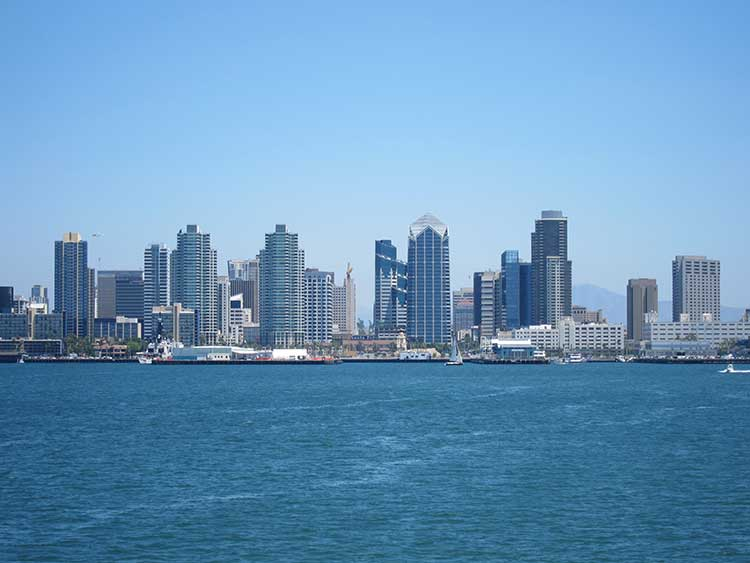 san diego skyline from harbor