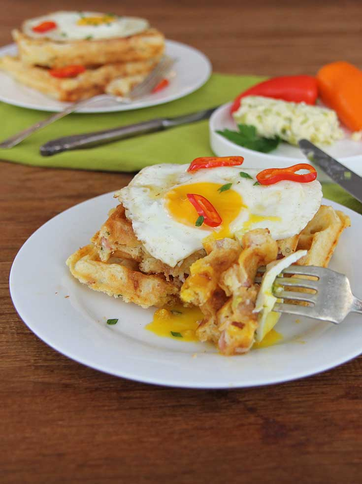 ham-and-cheese-waffle-recipe