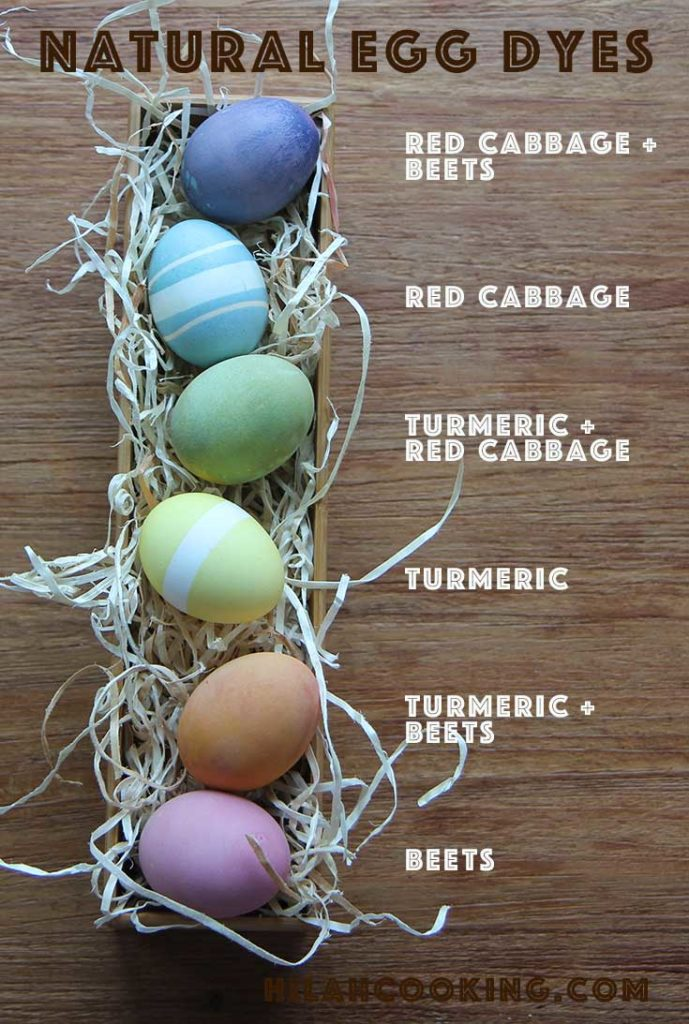 Natural Easter Egg Dyes! Vegetable dyes made from cabbage, beets and turmeric combine to make a rainbow of Easter eggs. This is a fun science projects for kids and produces beautiful, organic looking dyed eggs