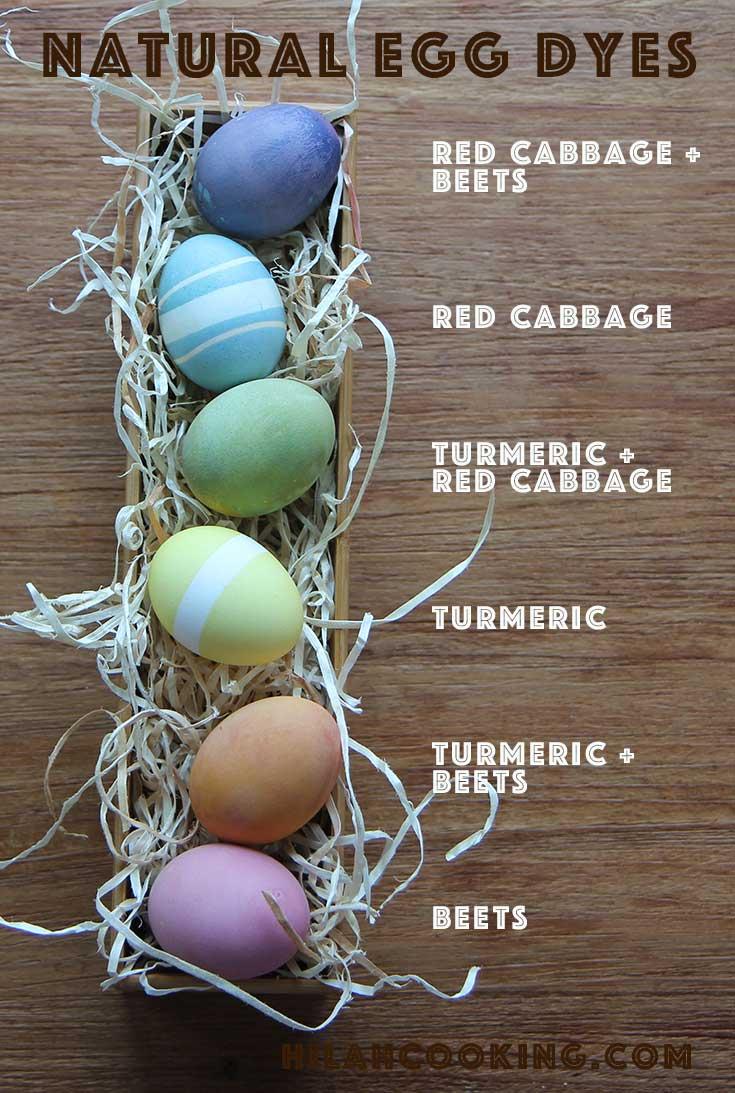 Natural Easter Egg Dyes - Hilah Cooking