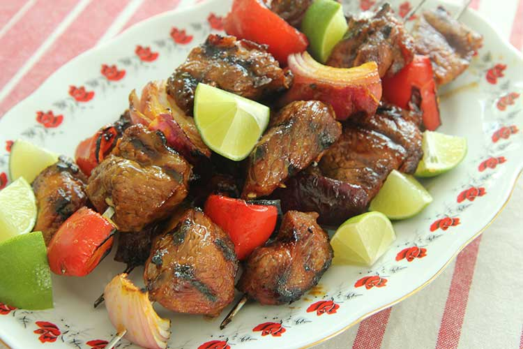 pineapple lamb kebabs