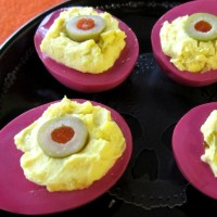 Demon Eyes! (Pickled Deviled Eggs) Plus How to Boil Eggs