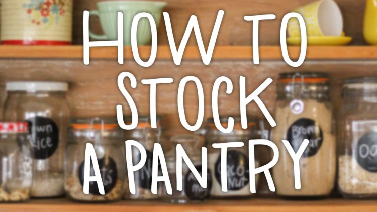 how to stock a pantry