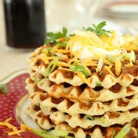 mashed potato waffles