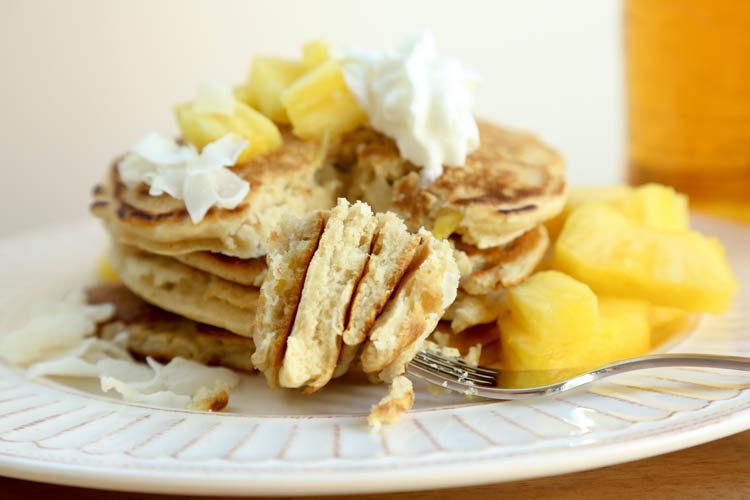 piña colada pancake recipe