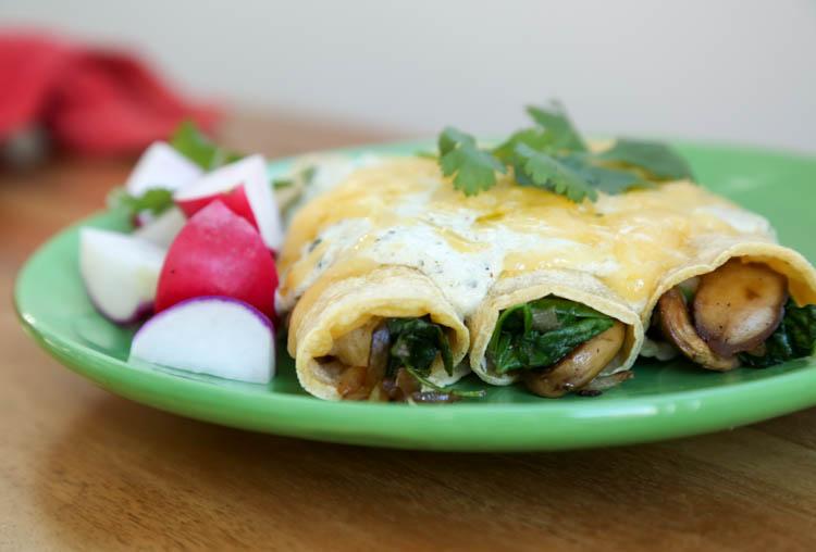spinach enchiladas suizas