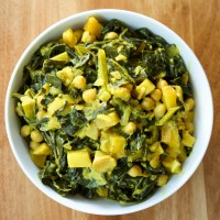 Coconut Curried Collard Greens