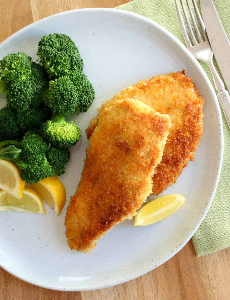 Chicken milanesa recipe - crispy breaded boneless chicken cutlets