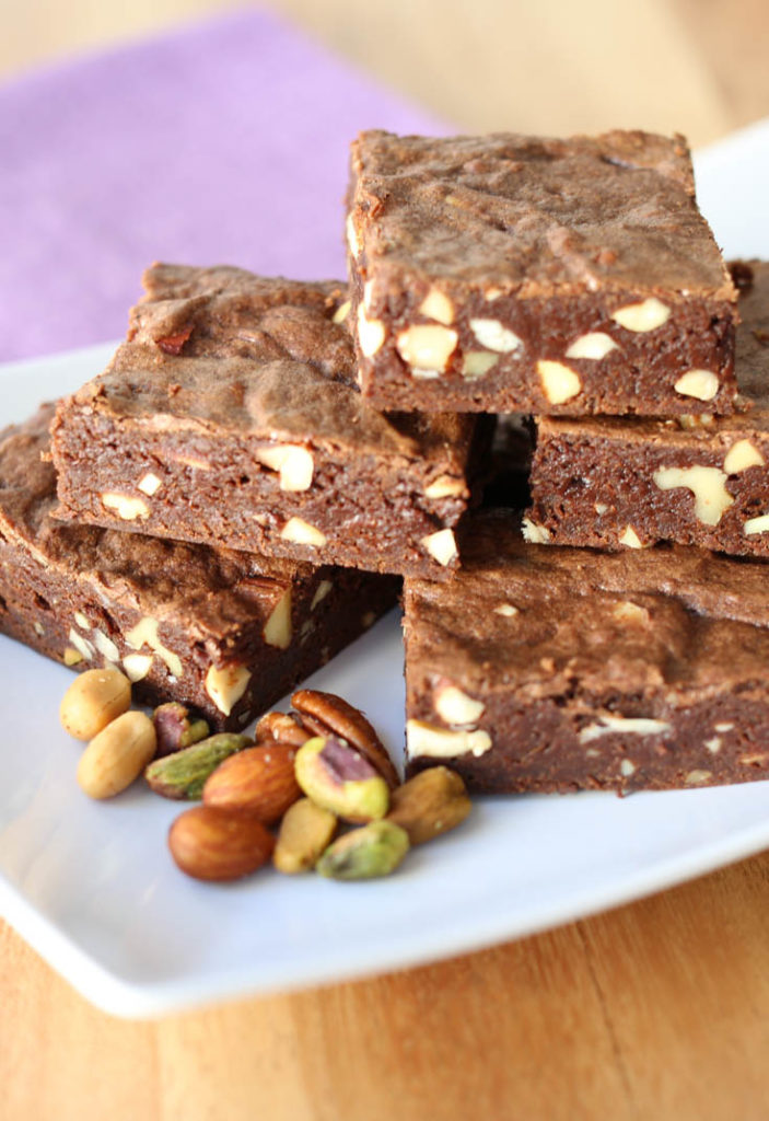 five-nut brownies