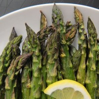 Roasted Asparagus with Chili Oil and Lemon