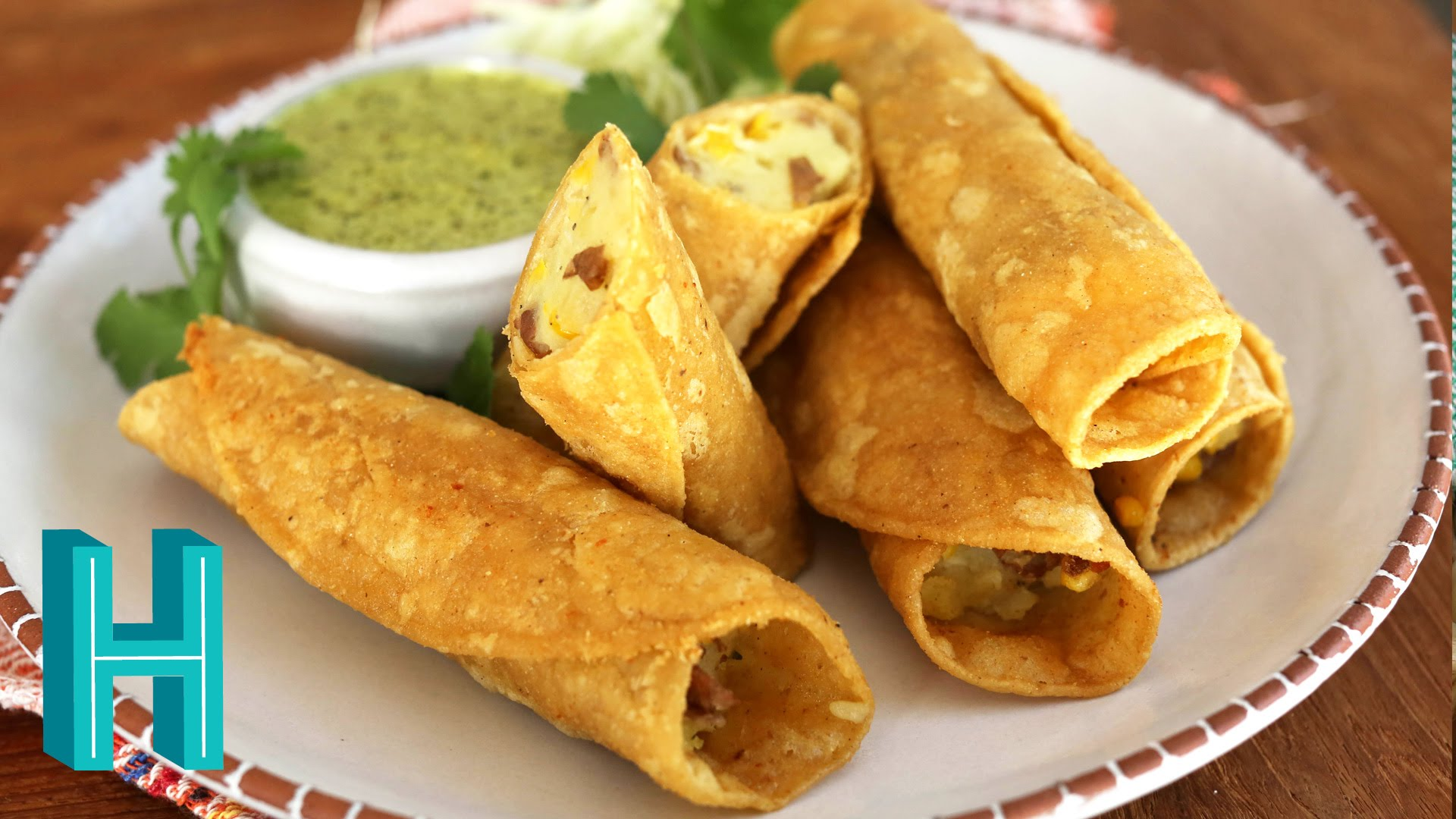 Potato Taquitos | Tacos Dorados de Papa - Hilah Cooking