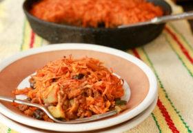 sweet potato chorizo casserole