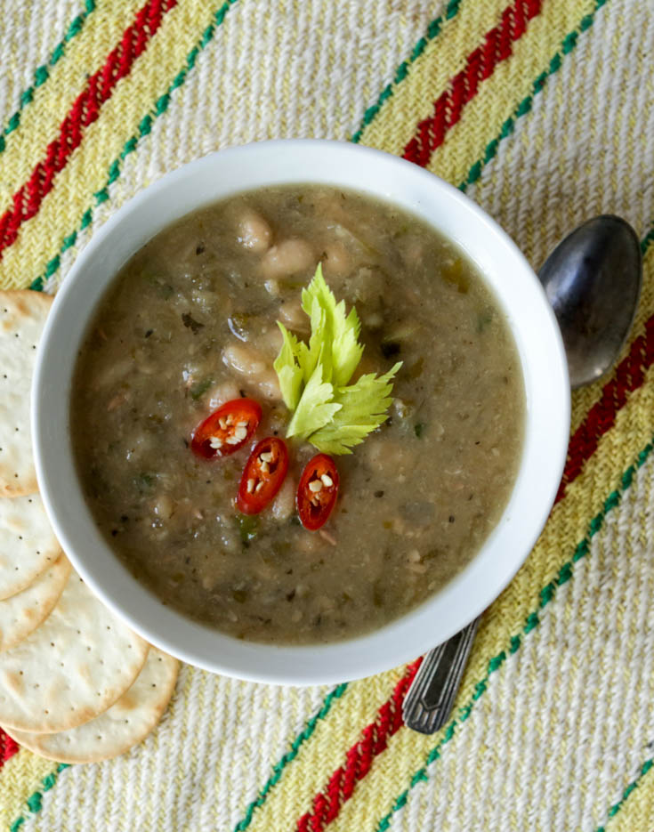 slow cooker navy bean soup-2