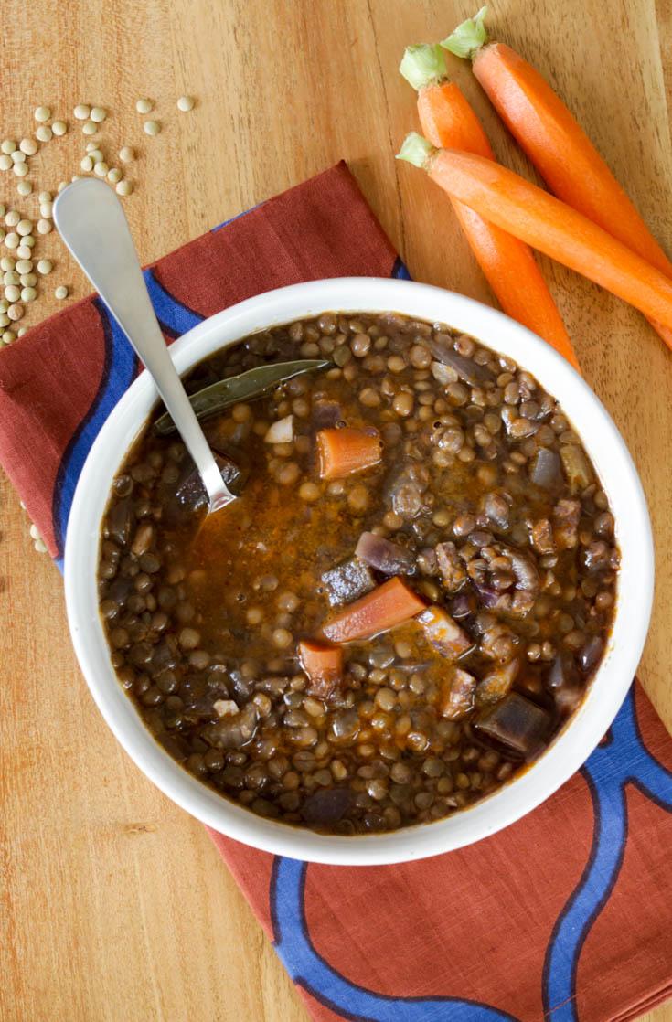 lentil soup recipe simple calories nutrition serving protein hilahcooking