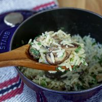 Creamy Orzo with Mushrooms