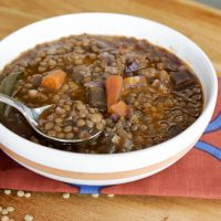 Simple Lentil Soup (and also the best!)