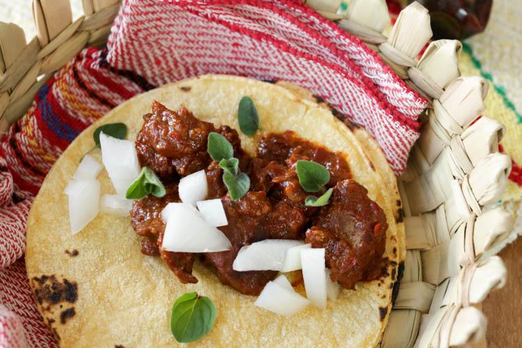 chunky beef tacos