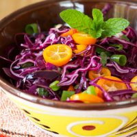 Cabbage and Kumquat Slaw