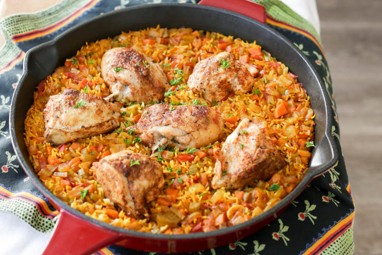 Arroz con pollo hilah cooking - Arroz salteado con pollo ...