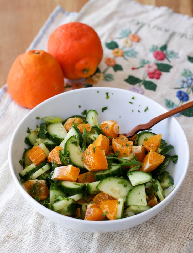 cucumber and orange salad