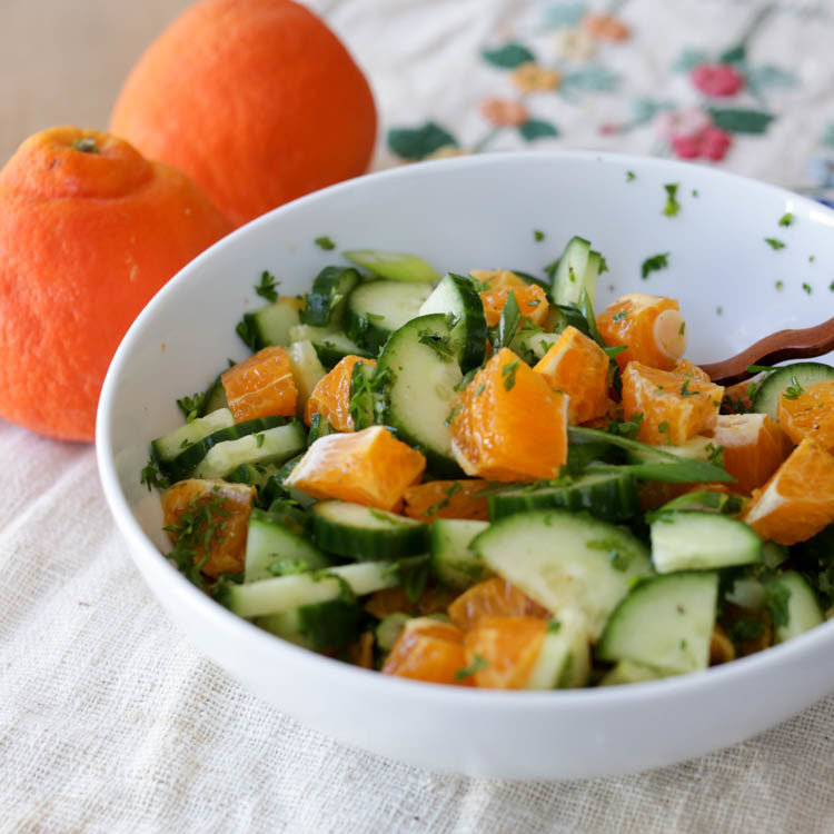 cucumber and orange salad