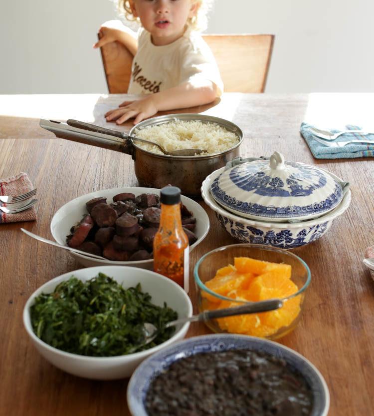 feijoada table